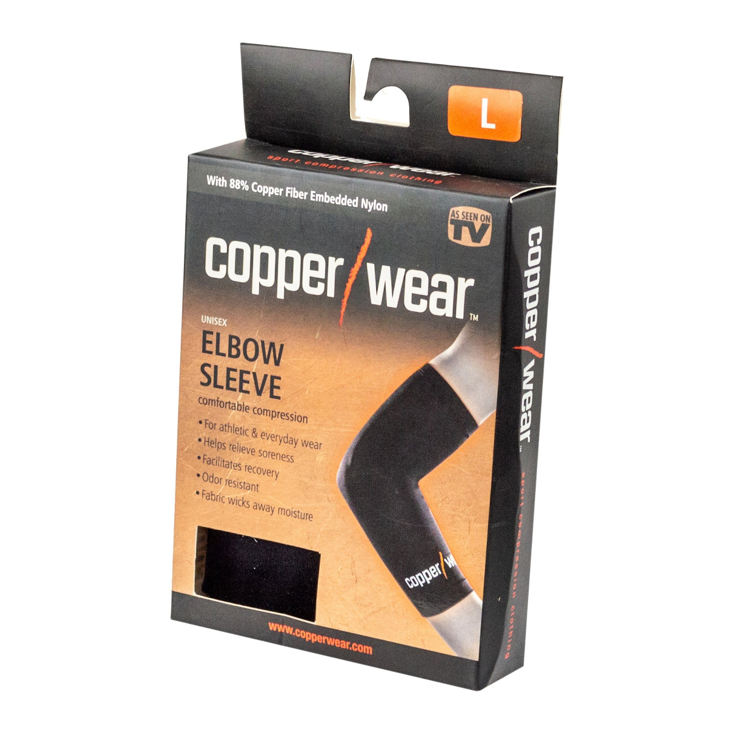 Image of As Seen On TV Copper Wear Unisex Elbow Sleeve, Large