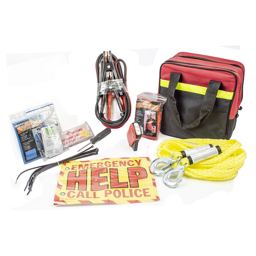 39pc Roadside Emergency Auto Safety and First Aid Kit