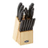 Oster 14pc Stainless Steel  Cutlery Set, Black w/Wood Block
