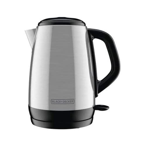 Image of Black + Decker 1.7 L Stainless Steel Electric Cordless Kettle, Refurbished