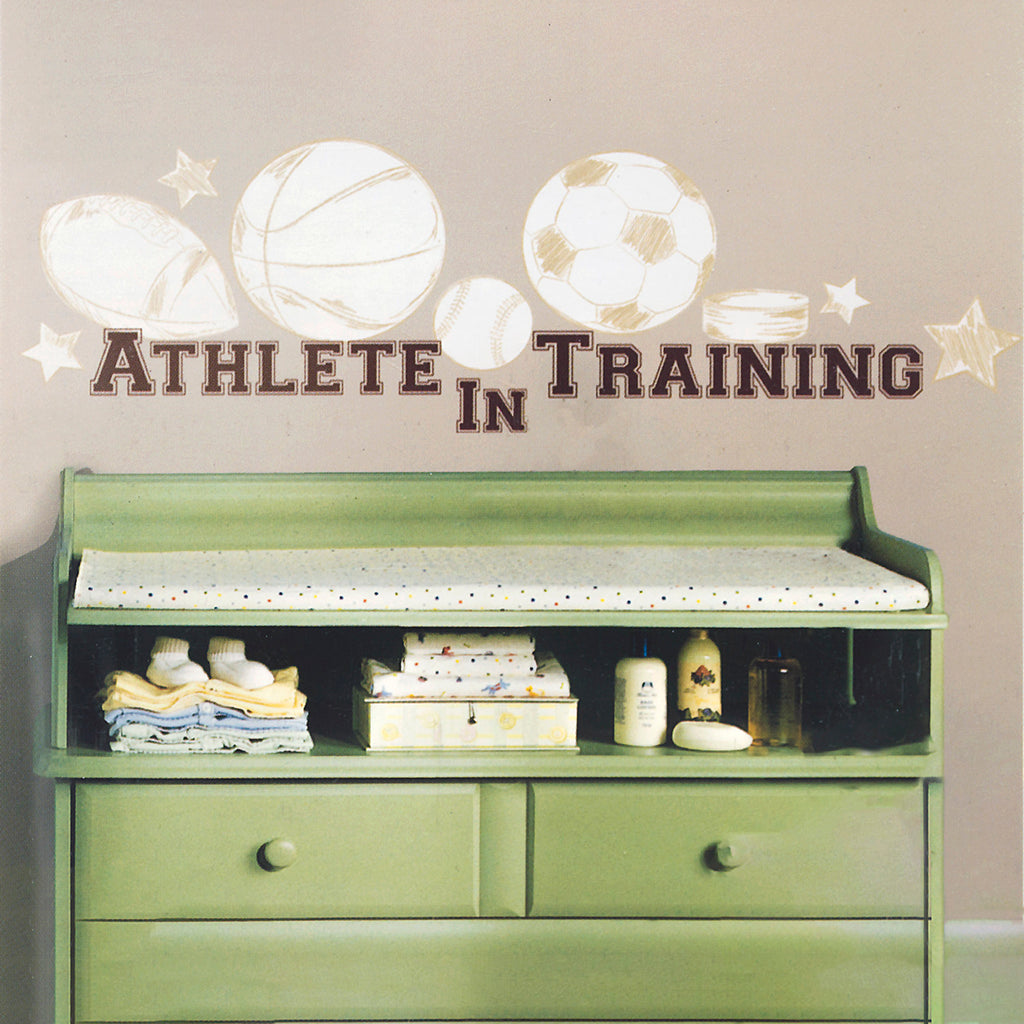 RoomMates Peel and Stick Athlete in Training Wall Decal Set