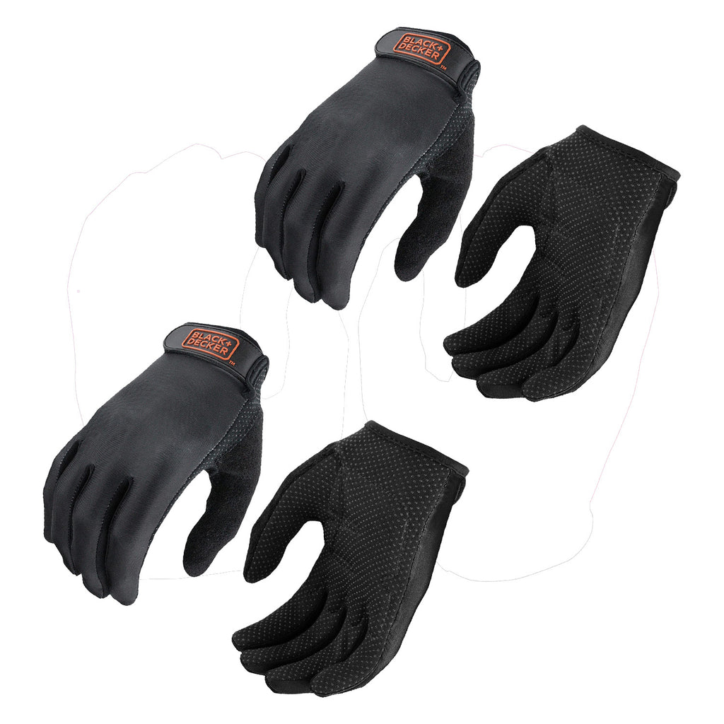BLACK+DECKER Performance Padded Palm Glove, 2-Pack