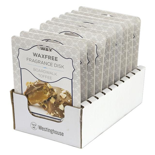 10-Pack Westinghouse Wax Free Fragrance Disk, Boardwalk Toffee - BargainJunkie