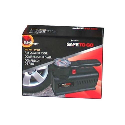 Superex Safe To Go Air Compressor: 260 PSI 12 Volt