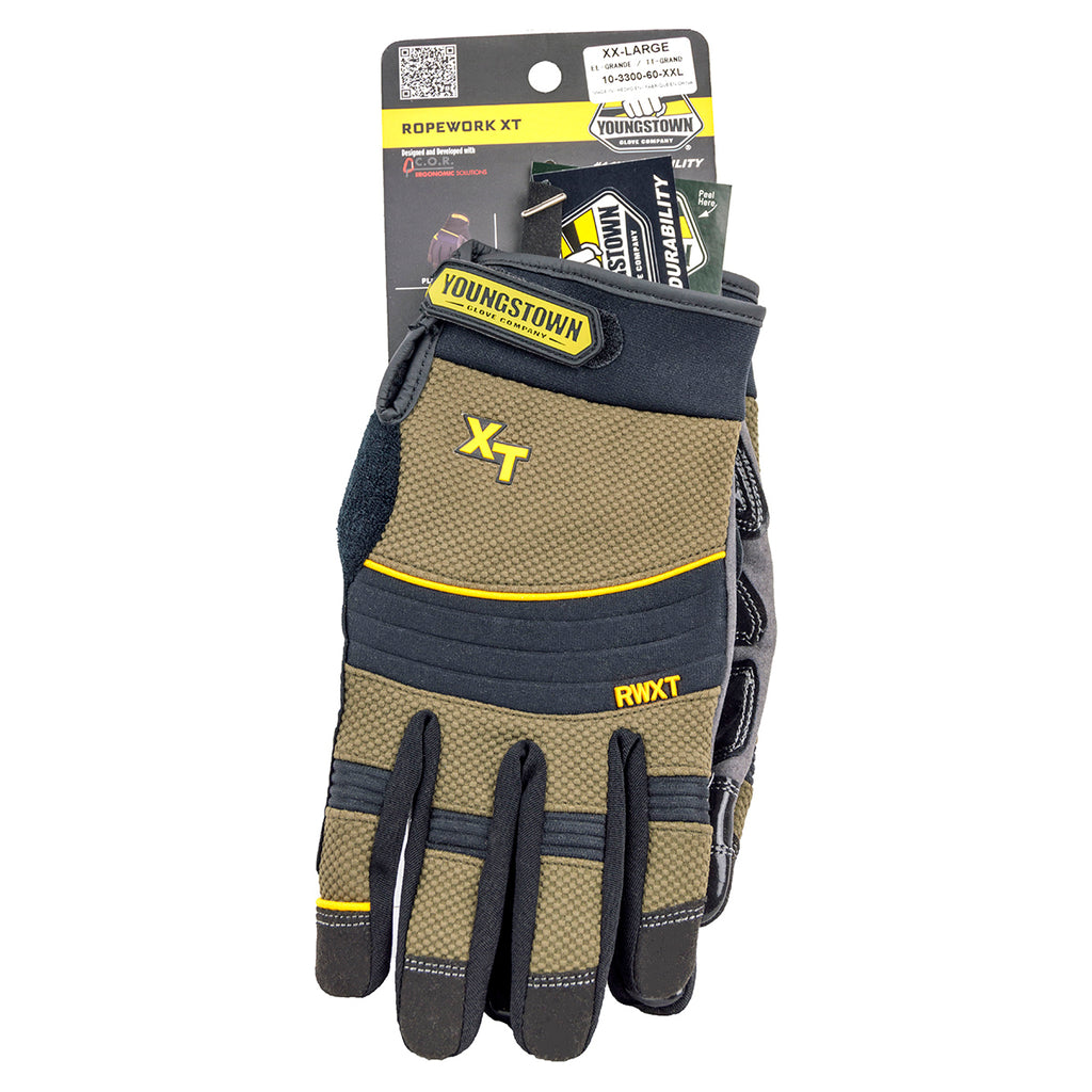 Youngstown Glove Ropework Extreme Work Gloves, 3X Large