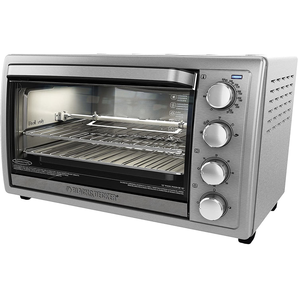 Black and Decker 6 Slice Rotisserie Convection Countertop Oven, Refurbished