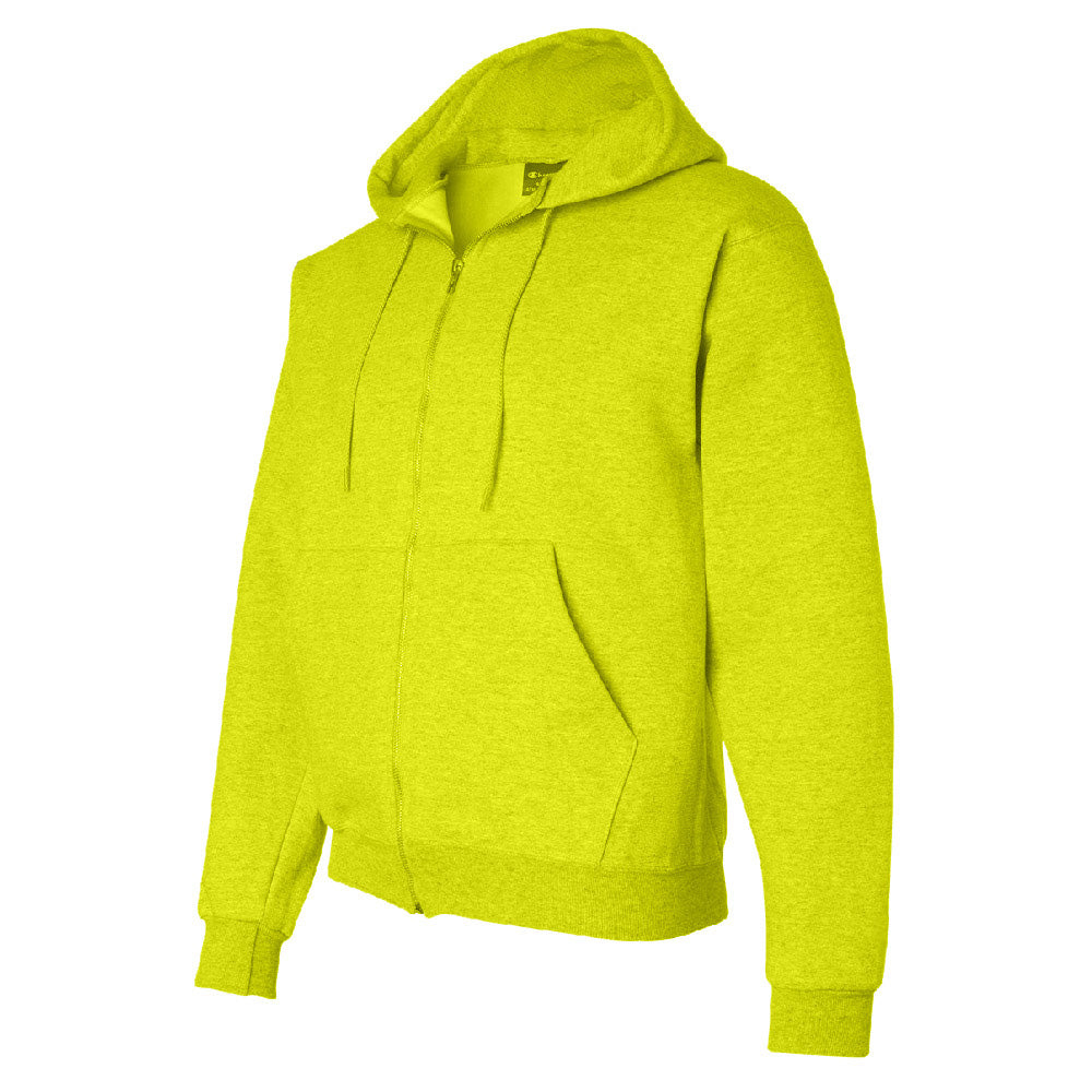 POWERBLEND HOODIE, SAFETY GREEN, LARGE
