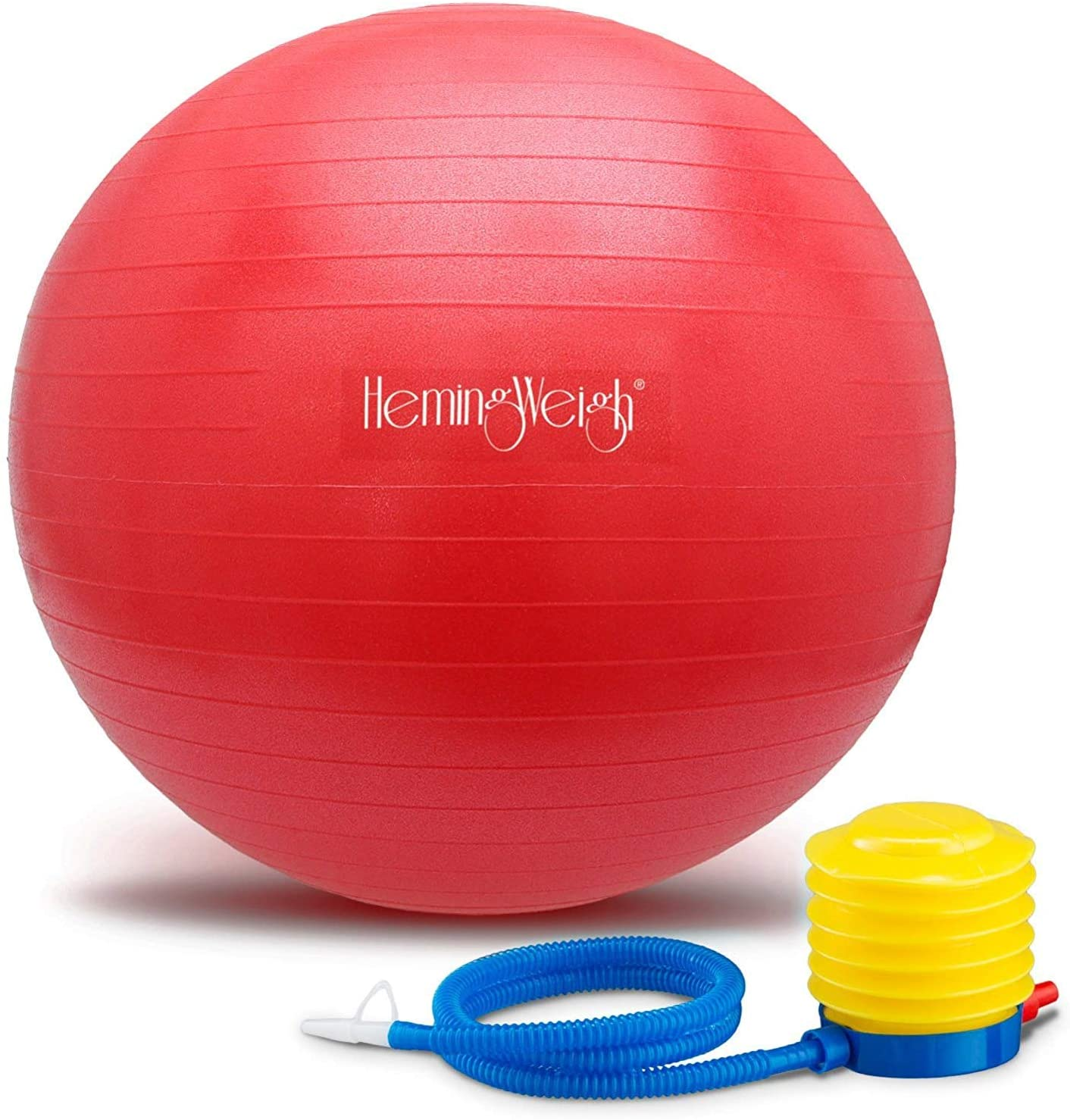 Image of HemingWeigh Anti-Burst Fitness and Stability 45 cm Ball, Red