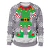 Men's Snowflake Ugly Christmas Long Sleeve Shirt