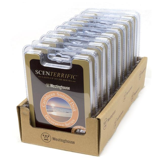 10-Pack Scenterrific Fragrance Disk, Caribbean Sunset - BargainJunkie