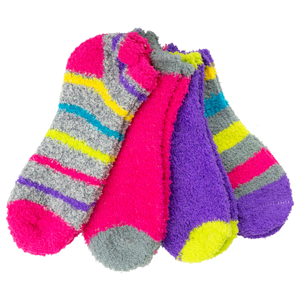 Eye Candy 4-Pack Softee Multicolor No Show Sock