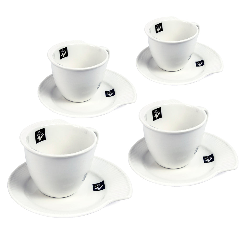 Holstein Housewares 8 Piece Snack and Coffee Set, Continuity Collection