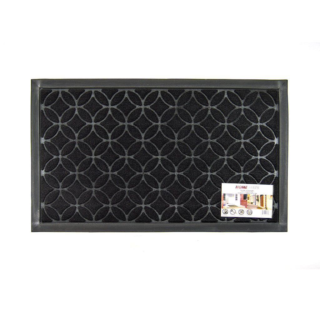 "Home Mats 18"" x 30"" Floor Mat, Black"
