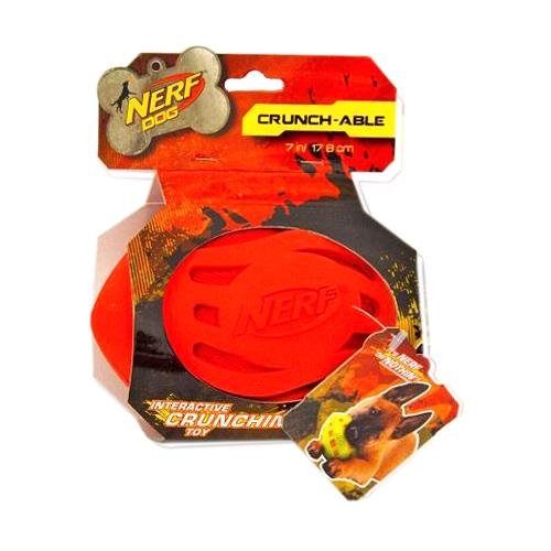 Nerf Dog Toy Crunchable Crinkle Football, Red - BargainJunkie