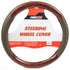 PowerXT Steering Wheel Cover, Brown w/Burled Inlays