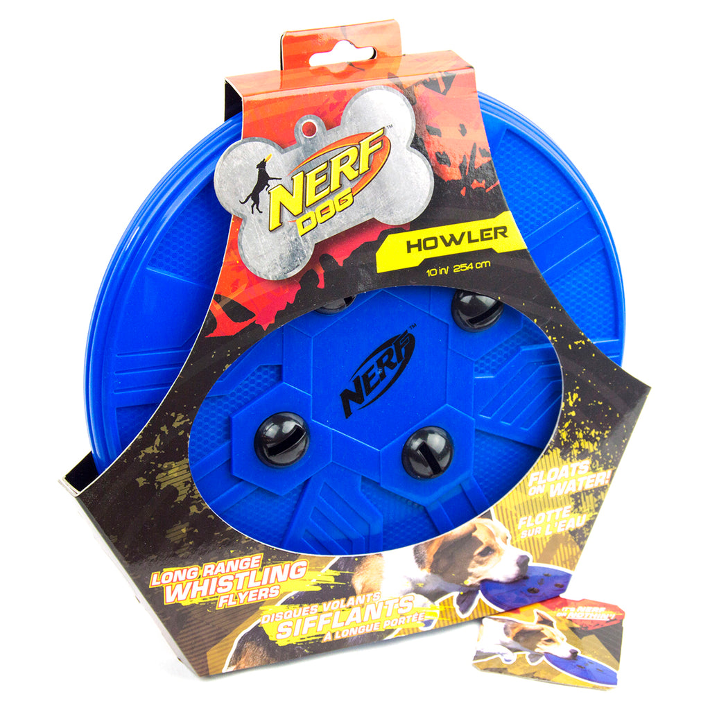 Nerf Dog Howling Frisbee Disc, Blue