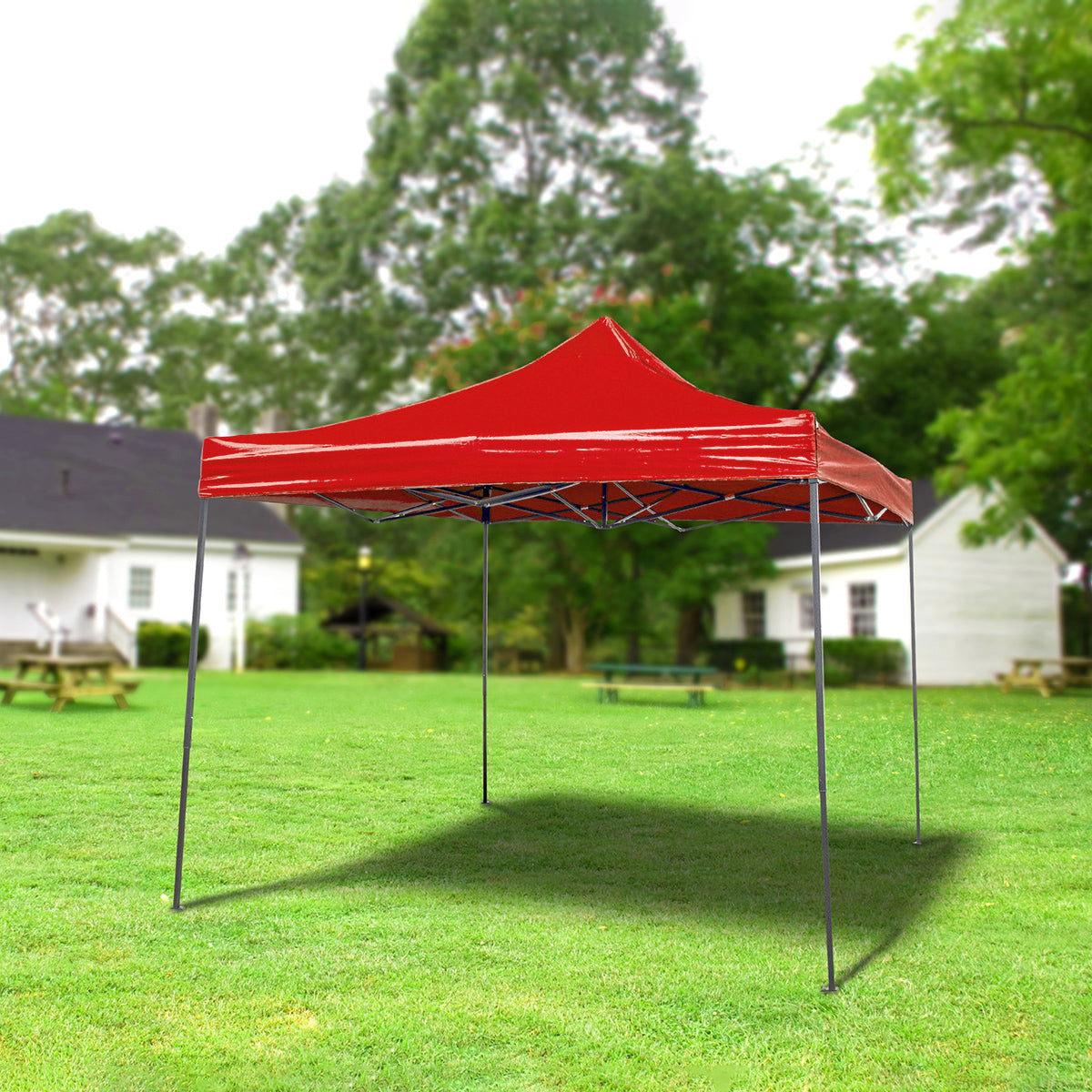 Image of 10x10 Foot Pop Up Gazebo Canopy, Red