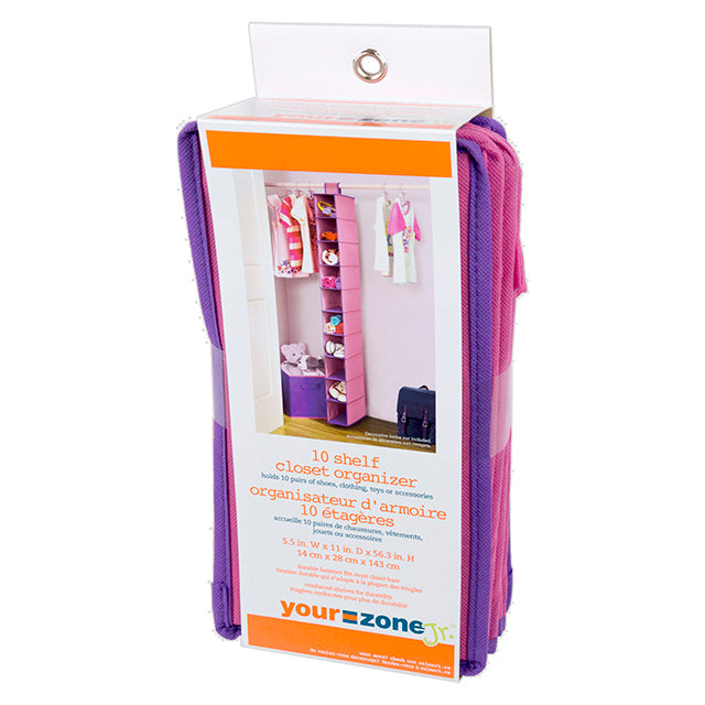 Neat Freak Your Zone Jr. Girls 10-Shelf Closet Organizer