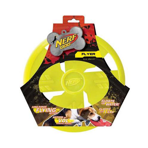 Nerf Dog Rubber Flying Disc Pet Toy, Green