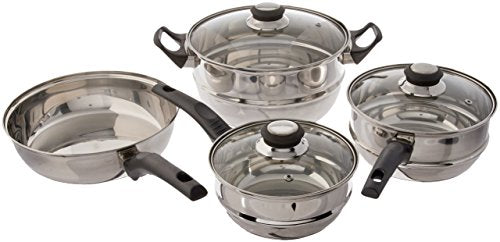 Sunbeam Ridgeline 7-Piece Stainless Steel Cookware Set