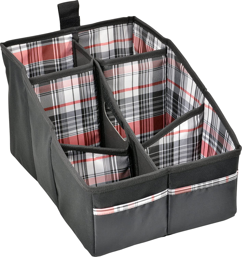Bell Automotive Black Plaid Seat Console