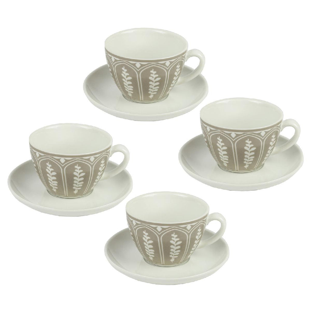 Vev Vigano Set of 4 Cappuccino Cups with Saucers - BargainJunkie