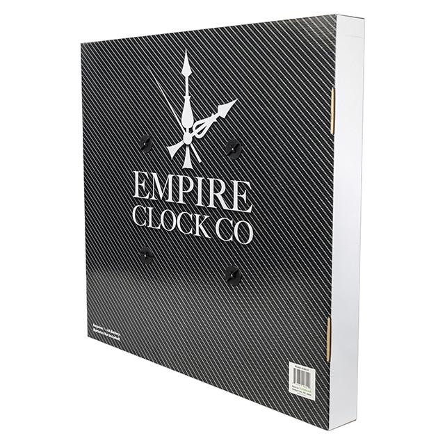 Empire 24 inch Decorative Wall Clock, Brushed Silver - BargainJunkie