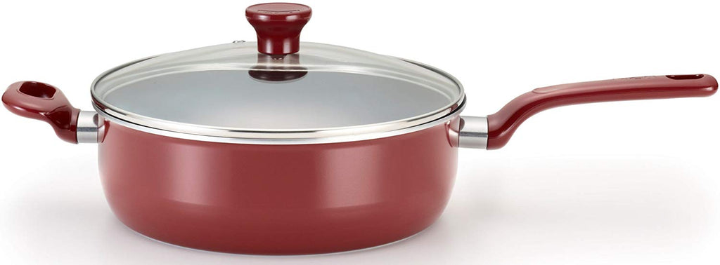 T-fal Excite Nonstick Thermo-Spot 4.5 Quart Jumbo Cooker, Red