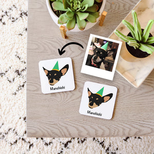 Custom Dog Coaster Set