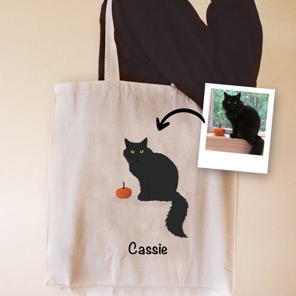 Custom Cat Tote Bag