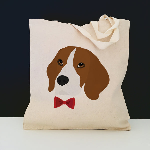 Beagle with Bow Tie Tote Bag