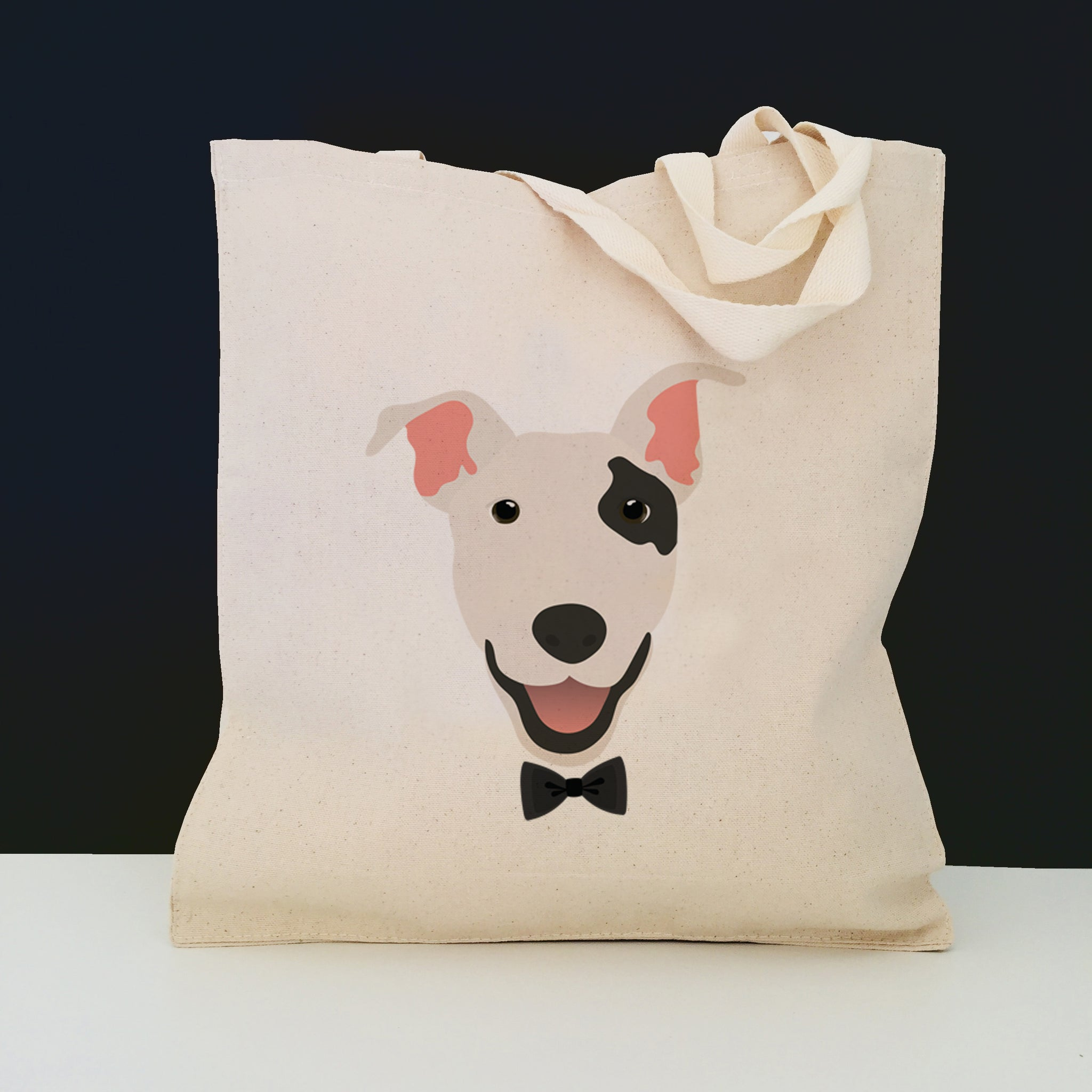 Bull Terrier with Bow Tie Tote Bag