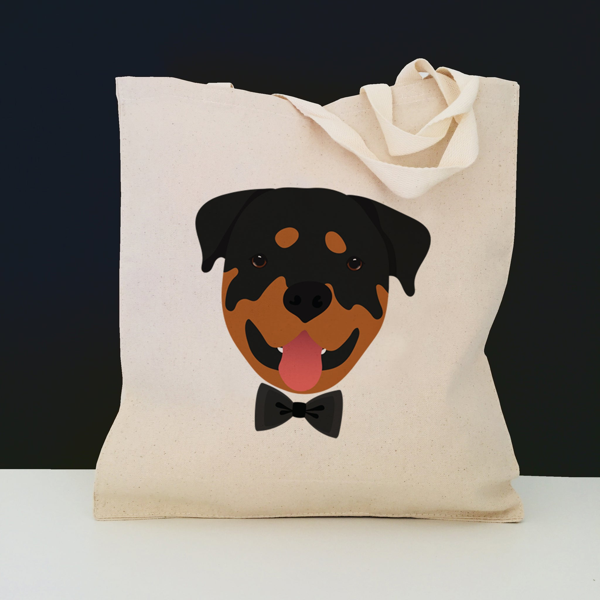 Rottweiler with Bow Tie Tote Bag
