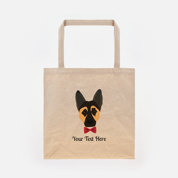 German Shepherd with Bow Tie Tote Bag