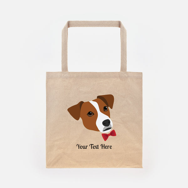 Jack Russell Terrier with Bow Tie Tote Bag