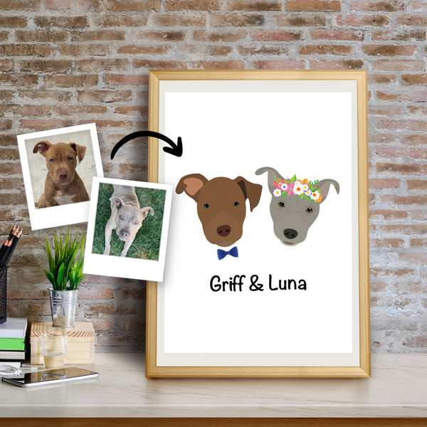 Custom Dog Art Print