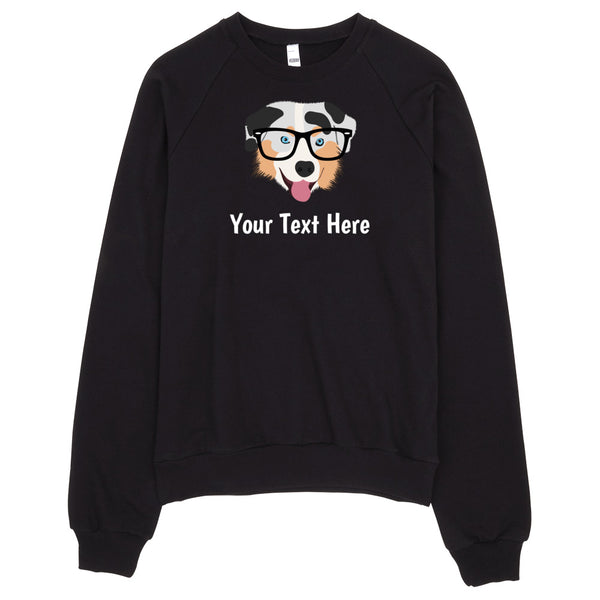 Australian Shepherd with Glasses Women's Sweatshirt