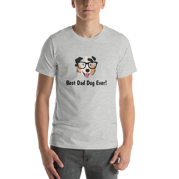 Australian Shepherd with Glasses Men's T-Shirt
