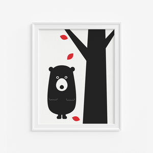 Autumn Bear Art Print