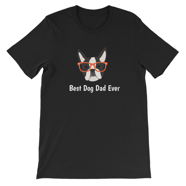 Boston Terrier with Glasses Men's T-Shirt