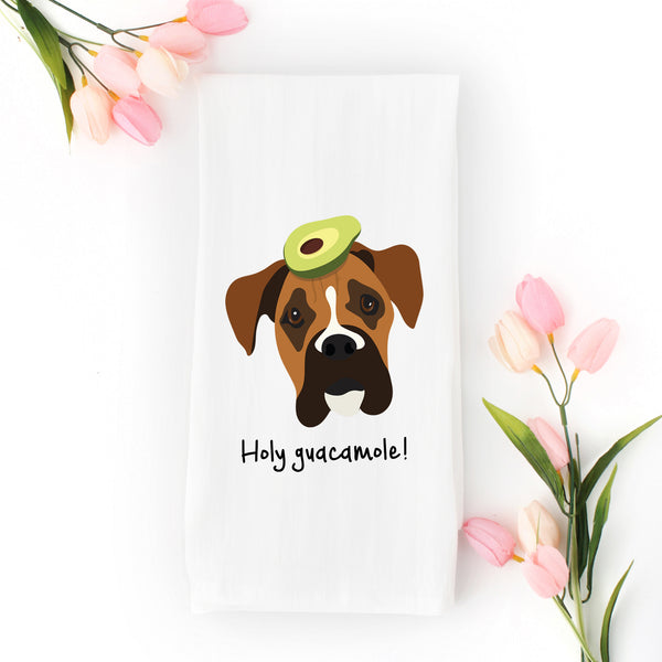 Boxer with Avocado Tea Towel