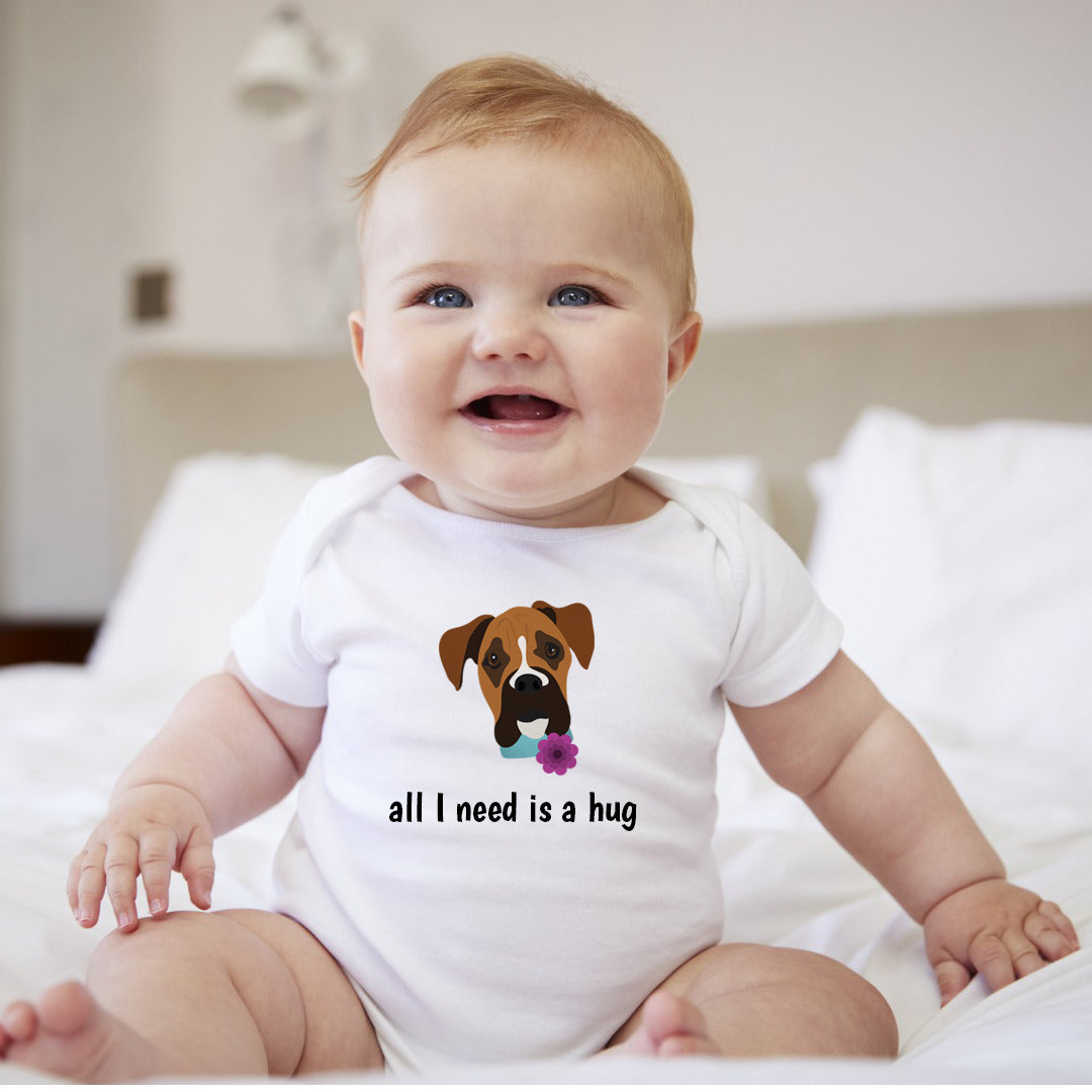 Personalized Boxer Baby Bodysuit