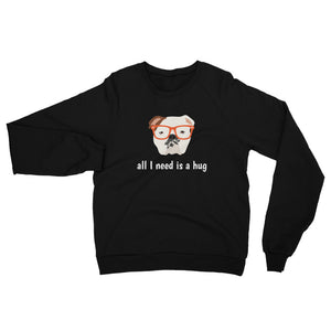 English Bulldog with Glasses Women's Sweatshirt