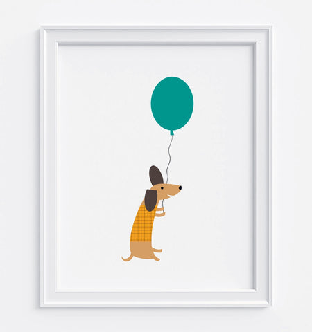 Flying Dog Art Print