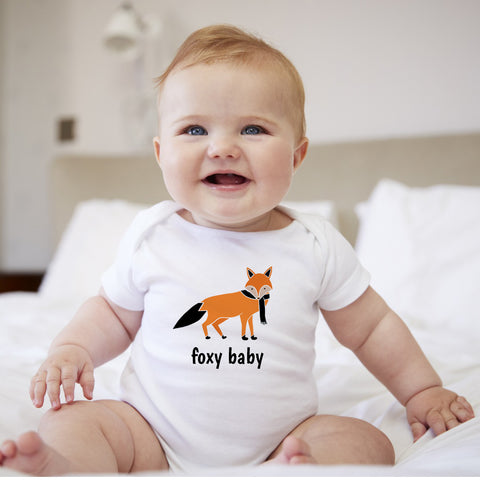 Personalized Fox Baby Bodysuit