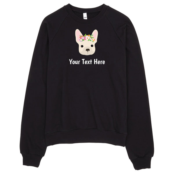 French Bulldog with Flower Crown Women's Sweatshirt