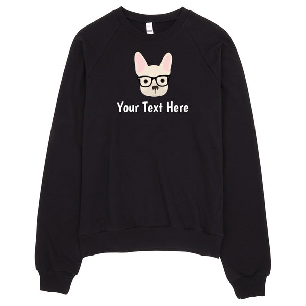 French Bulldog with Glasses Women's Sweatshirt