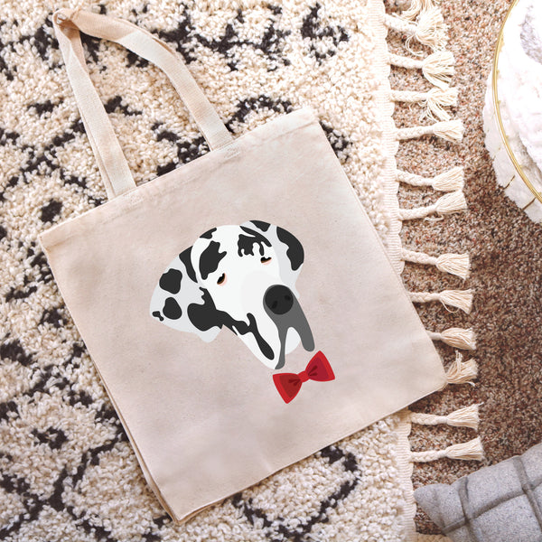 Great Dane with Bow Tie Tote Bag