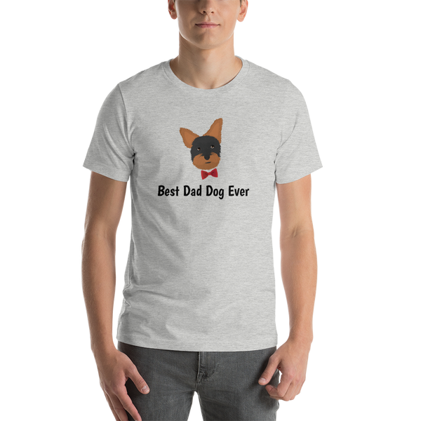 Yorkie with Bow Tie Men's T-Shirt