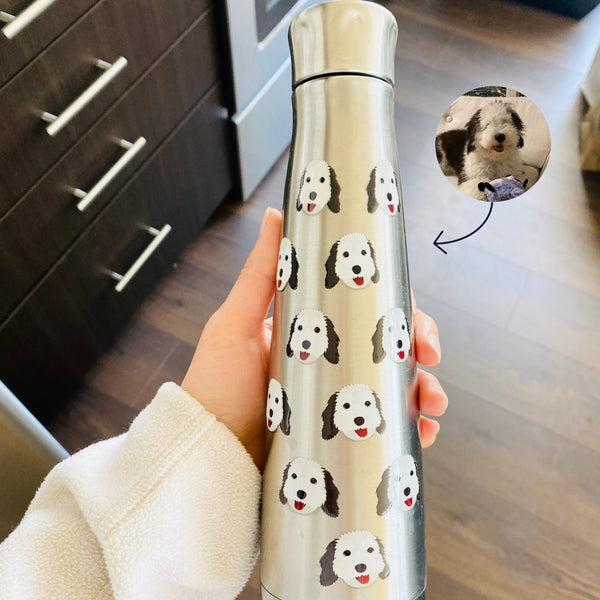 Dog Water Bottle (stainless steel) - use my existing design